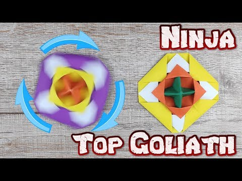 Origami Top Goliath   How To Make An Easy Paper Blade Weapon Tutorials   DIY Ninja Paper Craft Kids