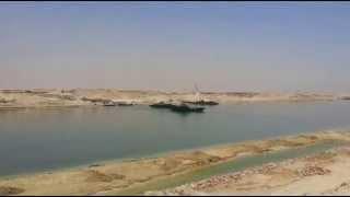 فيديو حصرى أول يوم رمضان فى قناة السويس الجديدة وأول عبور لأول معديتين