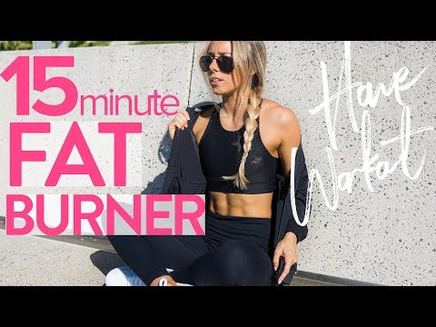 15min FAT BURNER WORKOUT | Full Body At Home HIIT Workout - Sarahs Day