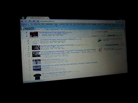 First Build of Google Chrome OS on my Dell Mini 10v Netbook