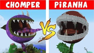 CHOMPER vs PIRANHA PLANT - PvZ vs Minecraft vs Smash