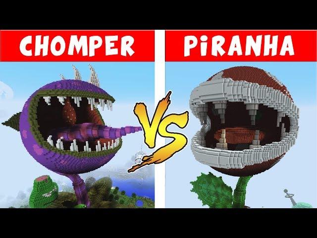 CHOMPER vs PIRANHA PLANT – PvZ vs Minecraft vs Smash