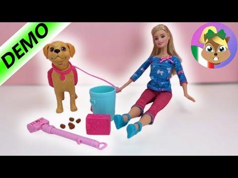 Barbie con cane demo video youtube + commenti - Barbie ed il suo cagnolino da passeggio - BDH74