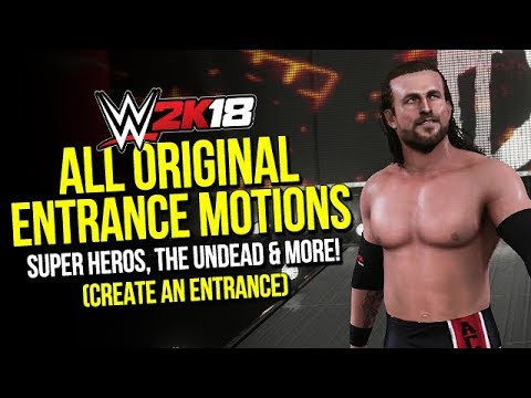 WWE 2K18: All Original Entrance Motions (Lots Of New Additions)