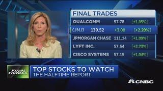 Final trades: Qualcomm, J&J, JPMorgan, Lyft & Cisco