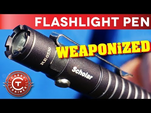 Tactical Pen Flashlight For Everyday Carry | PowerTac Scholar Review