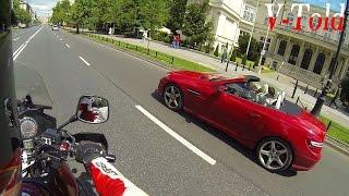 Fancy blonde vs Suzuki V-Strom