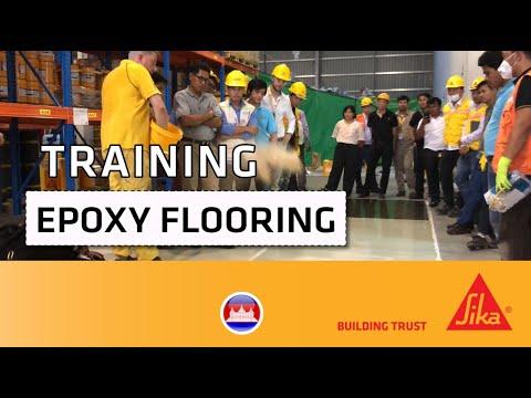 Epoxy Flooring Training - Sika© Cambodia