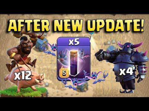 New Strategy 2019 (After New Update) - 4 Pekka 12 Hog 8 Bowler 5 Bat Spell New Style 3star TH12 Base