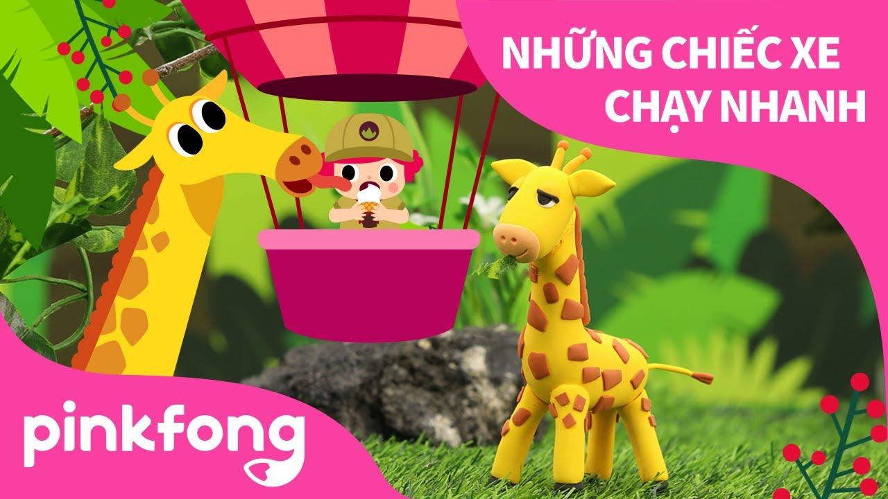 ĐI SỞ THÚ và làm Hươu cao cổ đất sét | Bài hát về Động Vật | Pinkfong! Những bài hát cho trẻ em