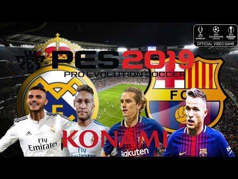 PES 2019 REAL MADRID VS FC BARCELONA | OPTION FILE real-life broadcast camera pes 2018 | Mod PC