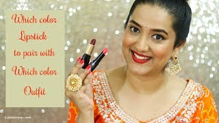 Which Color Lipstick to pair with which Color Outfit   Festive Special   Perkymegs