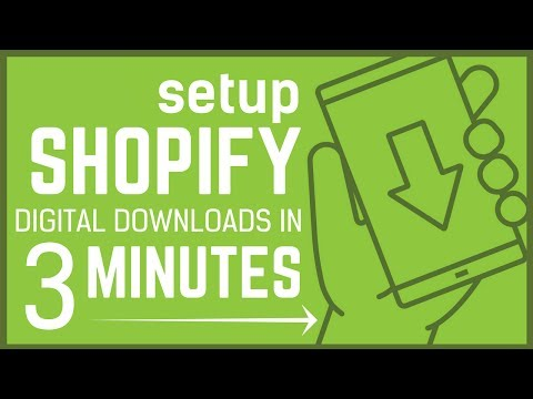 Shopify Digital Products - Set up in UNDER 3 Minutes - Seriously!