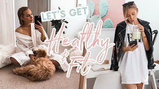 How I'm Getting HEAĻTHY & FIT! My FIRST Gym Workout + Helpful Tips!