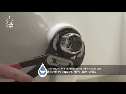 bathstore: How to install a basin and basin waste