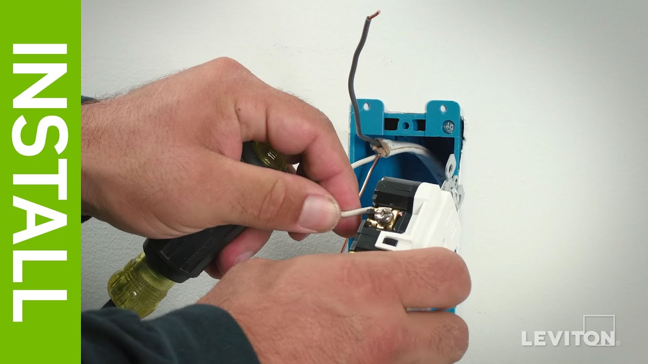 Leviton Presents: How to Wire a Device Using the External Back Wire ...