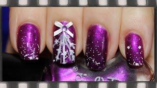 Новогодний маникюр 2016. Как сделать бант для ногтей | Bow 3D Nail Art