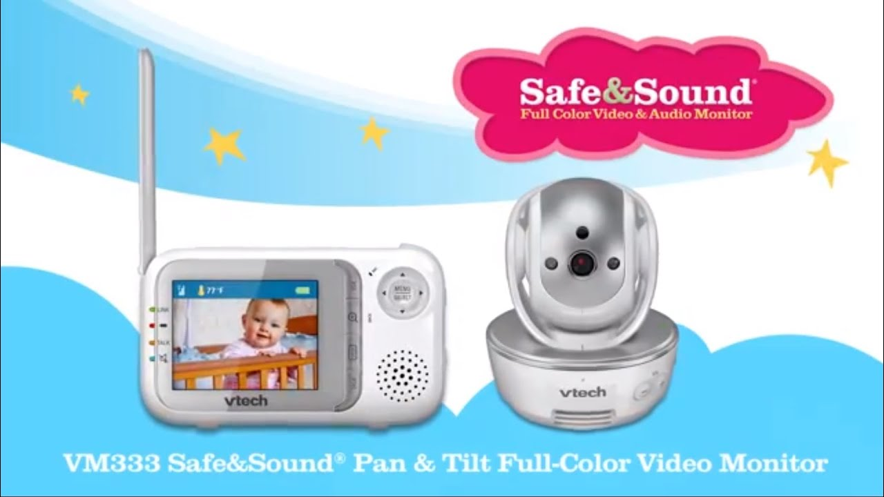 VTech VM352 Full Colour 5 Hi Res Video Monitor with Wide Angle and Standard Lens White One Size