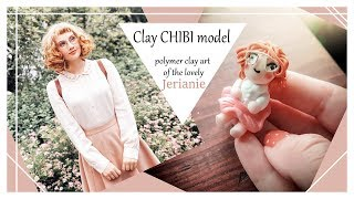 Chibi Mori Girl // POLYMER CLAY MINIATURE inspired by Jerianie