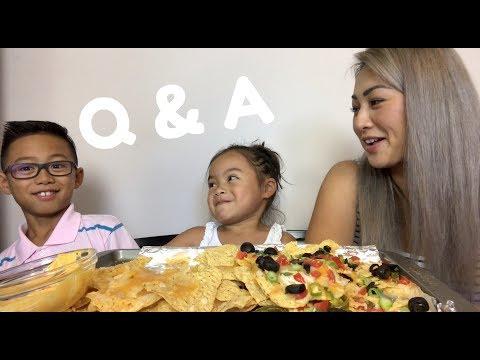 Q&A [ Nachos Mukbang ] N.E Lets Eat