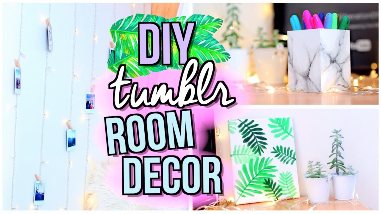 Diy tumblr room decor jenerationdiy youtube for Diy room decorations youtube