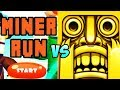 """TEMPLE RUN VS MINER RUN"" (Minecraft Vs Temple Run, Free Online Games, Mobile Games, iOS, Android)"