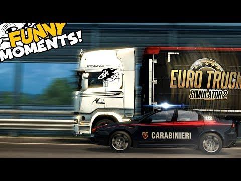 Euro Truck Simulator 2 Multiplayer Funny Moments & Crash Compilation #79