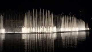 Dancing Fountain. Burj Khalifa. Celine Dion & Andrea Bocelli - The Player