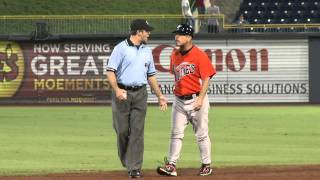 Norfolk Tides Manager Gary Allenson in Crazy Ejection