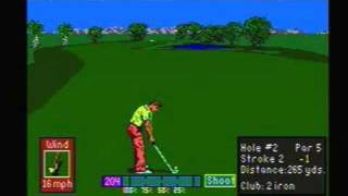 PGA Tour Golf - Sega Genesis Gameplay