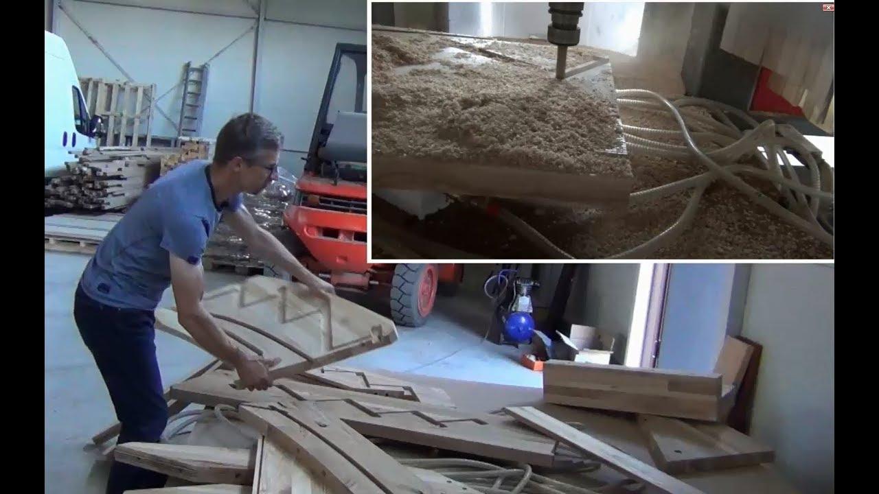 Modish Ciekawa instalacja CNC do schodow Gromotka Schody i Drzwi - YouTube OM04