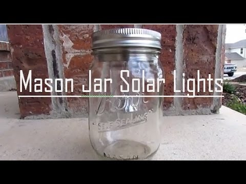 DIY Mason Jar Solar Light (2$)