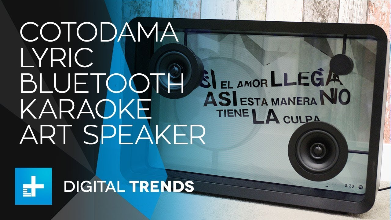 Cotodama Lyric Bluetooth Karaoke Art Speaker Hands-on Review