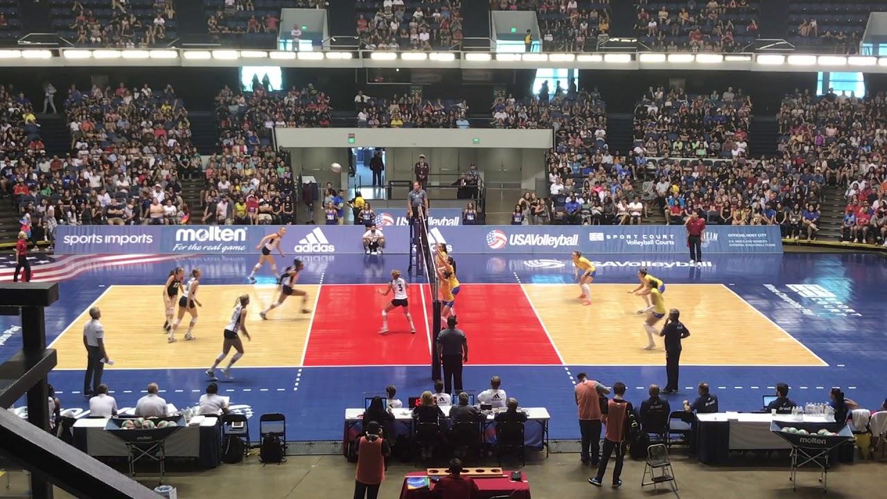 USA vs  Brazil//USA Women Volleyball Cup at Anaheim Arena