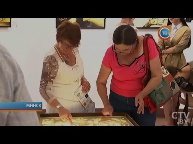 Ольга Радецкая в эфире телеканала СТВ. Выставка песочной графики