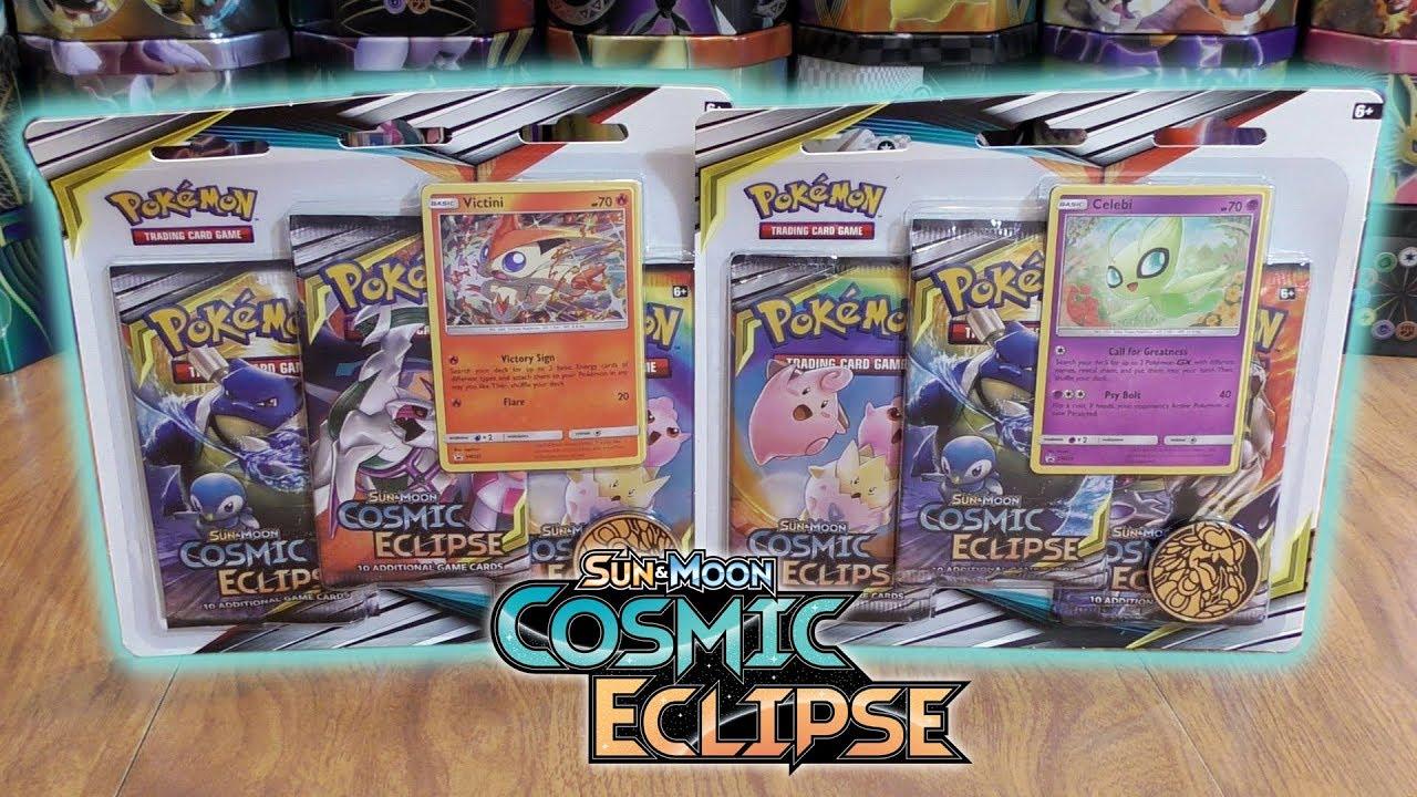 One at Random Pokemon TCG Sun /& Moon 12 Cosmic Eclipse 3 Pack Blister