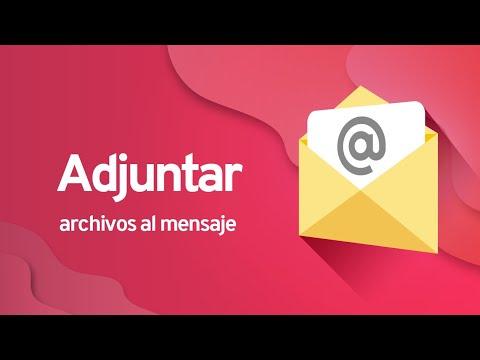 Correo Electrónico: Adjuntar un archivo al mensaje