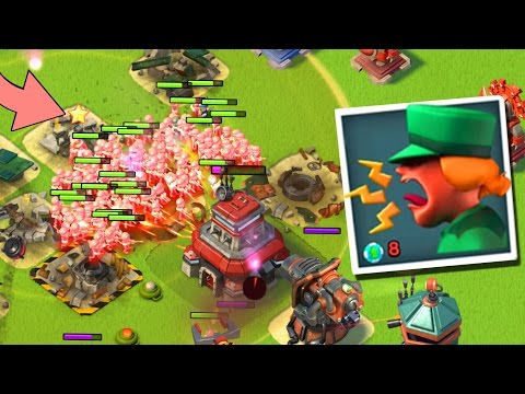 Boom Beach Battle Orders in Action vs Imitation Game! 208 MAX Riflemen Swam (Heroes Gameplay)