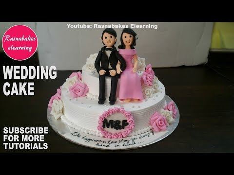 How to make Wedding Cake design:fondant 3D Wedding Cake Toppers:wedding gift ideas