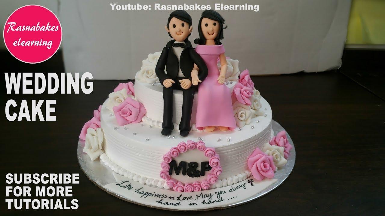 How to make Wedding Cake design:fondant 3D Wedding Cake ...