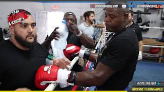 🔥Luis Ortiz No Grandpa👴🏾On Pads For Travis Kauffman🦍on Wilder vs Fury Card🥊
