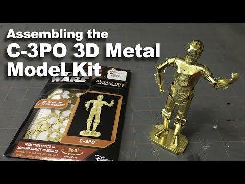 Assembling the C-3PO Metal Model Kit