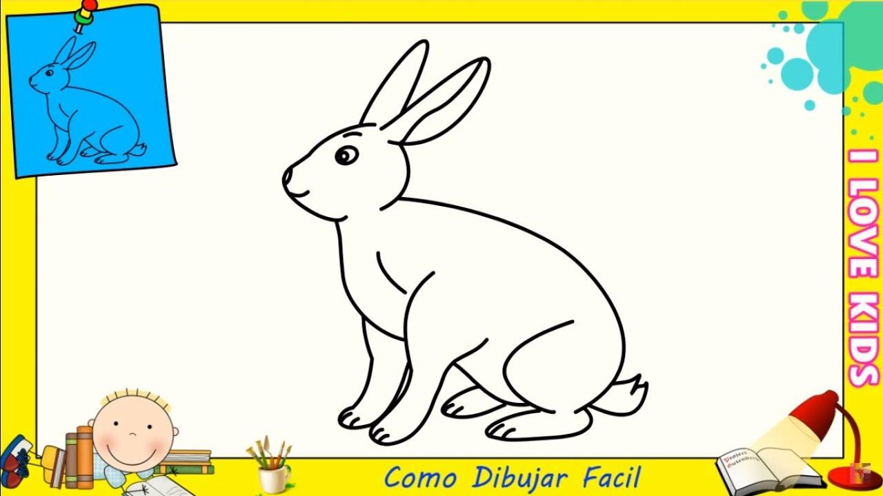 Dibujos de conejos FACILES paso a paso para niños - Como dibujar un ...