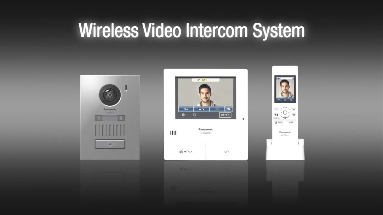 Panasonic Wireless Video Intercom System Vl Swd501 Youtube