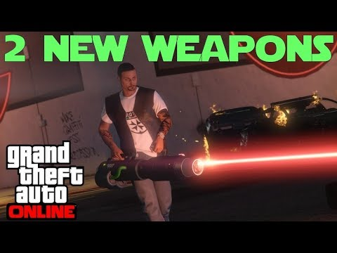 2 New weapons ( Widowmaker and Unholy Hellbringer ) Showcase in GTA 5 Online thumbnail