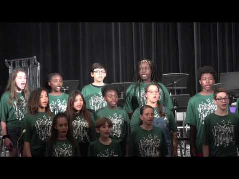 """Burncoat Middle School Chorus """"Give Us Hope"""" at Trills and Thrills Festival 2019"""