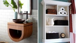 💖 5 Creative Wall Storage Ideas for Small Bathroom 💖