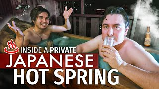 Inside a PRIVATE Japanese Hot Spring Hotel Room | 1,000 Year Old Bath