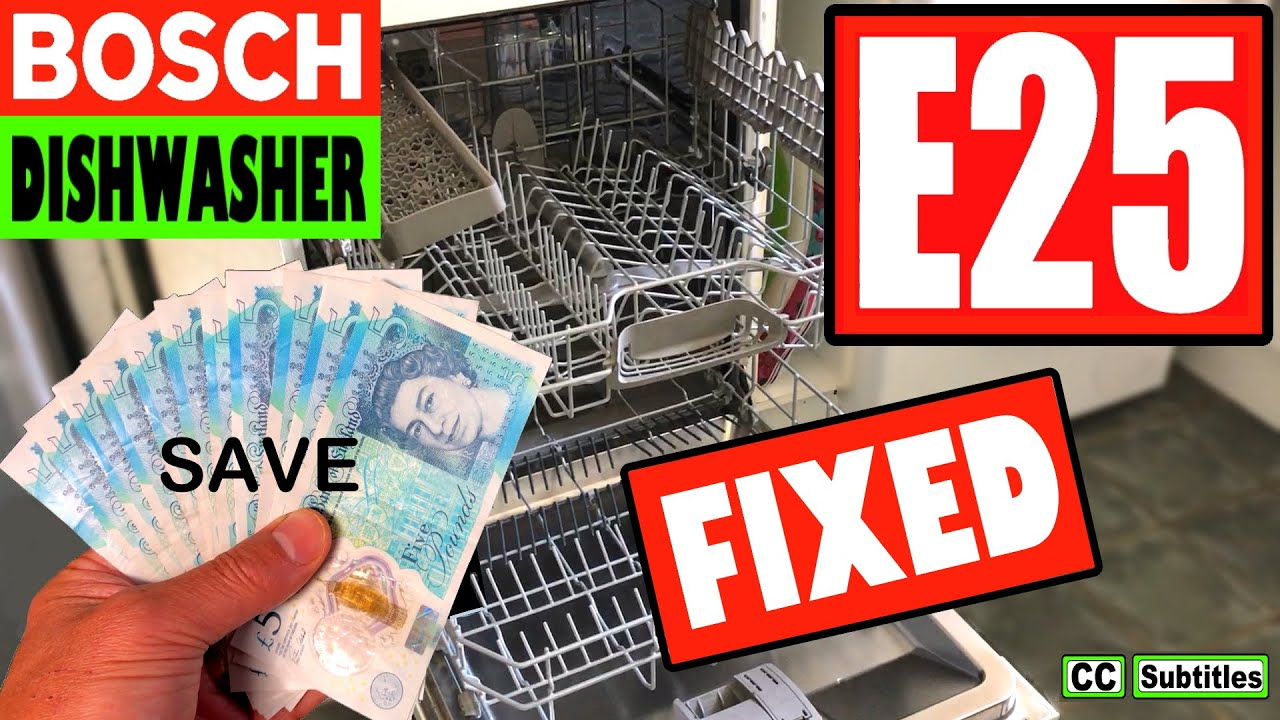 Bosch Dishwasher E25 Error Code And How To Clean Filter For Maximum Efficiency Youtube