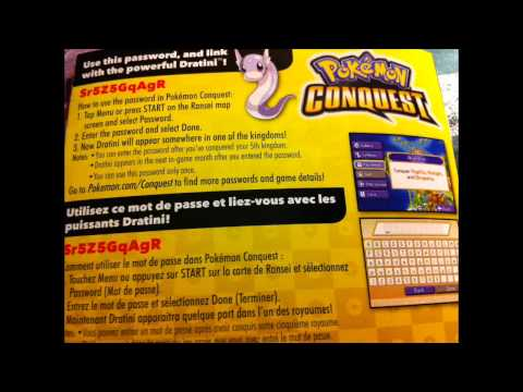 Pokemon Conquest Dratini Password
